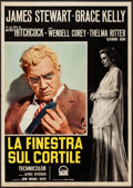 "Movie Posters:Hitchcock, Rear Window (Paramount, R-1960). Italian Foglio (19.5"" X 27.5"").Hitchcock.. ..."