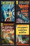 """Movie Posters:Science Fiction, Metropolis and Others Book Lot (Various, 1956-1963). PaperbackBooks (One Autographed), (2) (4.25"""" X 7""""), and (2) (4.25"""" X...(Total: 4 Items)"""