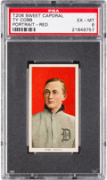Baseball Cards:Singles (Pre-1930), 1909-11 T206 Sweet Caporal Ty Cobb, Red Portrait PSA EX-MT 6....