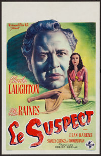 "The Suspect (Universal, Late 1940s). Post War Belgian (14"" X 21.5""). Thriller"