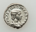 Ancients:Roman Imperial, Ancients: Julia Soaemias, mother of Elagabalus (Augusta, AD218-222). AR denarius (3.58 gm)....