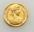 Ancients:Roman Imperial, Ancients: Arcadius, Eastern Roman Emperor (AD 383-408). AV solidus(4.33 gm)....
