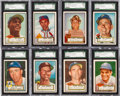 Baseball Cards:Lots, 1952 Topps Baseball High Number SGC Graded Collection (16). ...