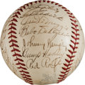 Baseball Collectibles:Balls, 1939 New York Yankees Team Signed Baseball. ...