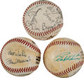 Baseball Collectibles:Balls, 1970's Collection of Multi Signed Baseballs With Dizzy Dean &Hall of Famers. ...