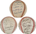 Baseball Collectibles:Balls, 1959 and 1971 Chicago White Sox and 1990 New York Mets Team Signed Baseballs....