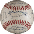 Baseball Collectibles:Balls, 1945 Detroit Tigers Team Signed Baseball. ...