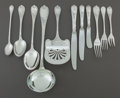 Silver Flatware, Continental:Flatware, A SIXTY-EIGHT PIECE CHRISTOFLE FRENCH SILVER-PLATED PARTIALFLATWARE SERVICE . Christofle, Paris, France, 20th century. Mark...(Total: 68 Items)