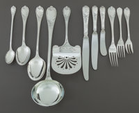 A SIXTY-EIGHT PIECE CHRISTOFLE FRENCH SILVER-PLATED PARTIAL FLATWARE SERVICE Christofle, Paris, France, 20th cent