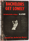 Books:Mystery & Detective Fiction, A. A. Fair [Erle Stanley Gardner]. INSCRIBED. Bachelors GetLonely. New York: Morrow, 1961. First edition. Inscrib...