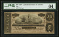 Confederate Notes:1864 Issues, Black and White Signature Combination T67 $20 1864 PF-3 Cr. 505.. ...