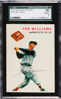 Baseball Cards:Singles (1950-1959), 1954 Wilson Franks Ted Williams SGC 50 VG/EX 4....