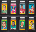 Football Cards:Sets, 1965 Topps Football Partial Set (140/176) With Namath. ...