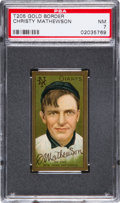 Baseball Cards:Singles (Pre-1930), 1911 T205 Piedmont Christy Mathewson PSA NM 7....