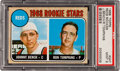 Baseball Cards:Singles (1960-1969), 1968 Topps Johnny Bench Rookie #247 PSA Mint 9....