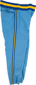 Baseball Collectibles:Others, 1975 Hank Aaron Game Worn Milwaukee Brewers Pants. ...