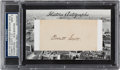Autographs:Others, 2012 Historic Autographs Everett Scott Signed Cut Signature Card PSA/DNA Mint 9....