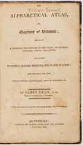 Books:Americana & American History, James Dean, A. M. An Alphabetical Atlas... Montpelier: Goss,1808. First edition. Octavo. Contemporary half black mo...