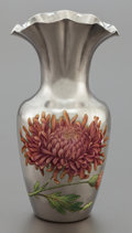 Silver Holloware, American:Vases, A SHIEBLER SILVER AND ENAMEL CABINET VASE . George W. Shiebler& Co., New York, New York, circa 1900. Marks: (winged S),S...