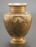 Asian:Other, A PERSIAN SILVER GILT VASE ATTRIBUTED TO VARTAN . Early 20thcentury. Marks: 84, (script). 10-3/4 inches high (27.3cm)...