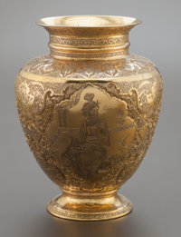 A PERSIAN SILVER GILT VASE ATTRIBUTED TO VARTAN Early 20th century Marks: 84, (script) 10-3/4 i