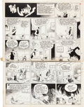 Original Comic Art:Comic Strip Art, Gus Edson The Gumps Sunday Comic Strip Original Art (ChicagoTribune, 4-20-41).... (Total: 2 Original Art)