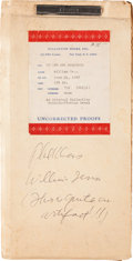Memorabilia:Science Fiction, William Tenn Of Men and Monsters Uncorrected Galley Proof (Ballantine Books, 1968) ...
