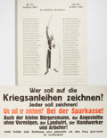 Books:Prints & Leaves, [German Military Broadsides]. Lot of Two German Broadsides fromWWI. [Various Places, n.d., ca. 1914]. Approximately 12 x 25...