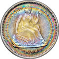 Proof Seated Half Dimes, 1862 H10C PR68+ ★ Cameo NGC. CAC....