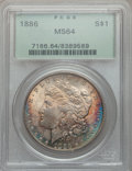 Morgan Dollars: , 1886 $1 MS64 PCGS. PCGS Population (40062/17215). NGC Census:(50480/26220). Mintage: 19,963,886. Numismedia Wsl. Price for...