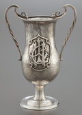 Silver Holloware, British, A BIRMINGHAM EDWARD VII SILVER TWO-HANDLED CUP . Birmingham,England, circa 1903-1904. Marks: (lion passant), (anchor),JP...
