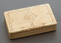 Silver Smalls:Other , A FRENCH 18K GOLD SNUFF BOX. France, circa 1909. Marks:(physician's head 3), L (vine)T (within diamond),703. 5...