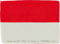 Explorers:Space Exploration, Apollo 15 Flown Flag of Indonesia Originally from the PersonalCollection of Mission Command Module Pilot Al Worden, Signed an...