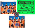 Autographs:Celebrities, Space Shuttle Columbia (STS-35) Crew-Signed Color Photo andGate Pass, with Memorabilia.... (Total: 4 Items)