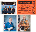 Autographs:Celebrities, Space Shuttle Atlantis (STS-44) Crew-Signed Color Photo andGate Pass, with Additional Signed Photos. ... (Total: 4 Items)