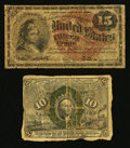 Fractional Currency:Second Issue, Fr. 1245 10¢ Second Issue Good. Fr. 1271 15¢ Fourth Issue Good.. ... (Total: 2 notes)