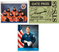 Autographs:Celebrities, Space Shuttle Columbia (STS-58) Crew-Signed Color Photo andGate Pass, with Additional Signed Photo. ... (Total: 3 )