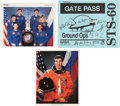 Autographs:Celebrities, Space Shuttle Discovery (STS-60) Crew-Signed Color Photo andGate Pass, with Additional Signed Photo. ... (Total: 3 Items)