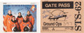 Autographs:Celebrities, Space Shuttle Columbia (STS-62) Crew-Signed Color Photo andGate Pass.... (Total: 2 Items)