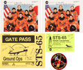Autographs:Celebrities, Space Shuttle Columbia (STS-65) Crew-Signed Color Photos(Two) and Gate Passes (Two), with Additional Signed Photo...(Total: 9 Items)