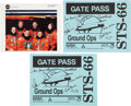 Autographs:Celebrities, Space Shuttle Atlantis (STS-66) Crew-Signed Color Photo andGate Passes (Two). ... (Total: 3 )