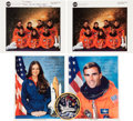 Autographs:Celebrities, Space Shuttle Endeavour (STS-67) Crew-Signed Color Photos (Two), with Additional Signed Photos and Memorabilia. ... (Total: 5 )