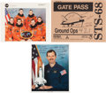 Autographs:Celebrities, Space Shuttle Endeavour (STS-68) Crew-Signed Color Photo,with Additional Signed Photo. ... (Total: 3 Items)
