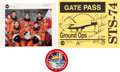 Autographs:Celebrities, Space Shuttle Atlantis (STS-74) Crew-Signed Color Photo and Gate Pass, with Memorabilia. ... (Total: 3 Items)