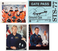 Autographs:Celebrities, Space Shuttle Endeavour (STS-77) Crew-Signed Color Photo andGate Pass, with Additional Signed Photos. ... (Total: 4 )