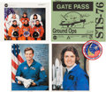 Autographs:Celebrities, Space Shuttle Atlantis (STS-76) Crew-Signed Color Photo andGate Pass, with Additional Signed Photos and Memorabil... (Total: 5Items)