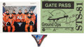 Autographs:Celebrities, Space Shuttle Atlantis (STS-81) Crew-Signed Color Photo andGate Pass, with Memorabilia.... (Total: 3 Items)