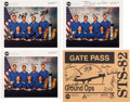 Autographs:Celebrities, Space Shuttle Discovery (STS-82) Crew-Signed Color Photos(Three) and Gate Pass. ... (Total: 4 Items)