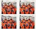 Autographs:Celebrities, Space Shuttle Columbia (STS-83 / STS-94) Crew-Signed ColorPhotos (Four) and Gate Passes (Two), with Additional Si... (Total:9 Items)