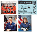 Autographs:Celebrities, Space Shuttle Discovery (STS-85) Crew-Signed Color Photo andGate Pass, with Additional Signed Photos.... (Total: 4 Items)